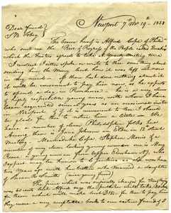 Thumbnail of Letter from Stephen Gould to Samuel Boyd Tobey