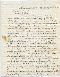 Thumbnail of Letter from Benjamin Fry to Samuel Boyd Tobey