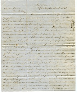 Thumbnail of Letter from John Pease to Samuel Boyd Tobey