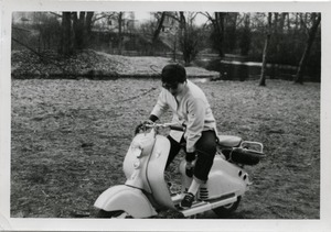 Thumbnail of Maureen Jones and Lambretta (Bois de Boulogne)