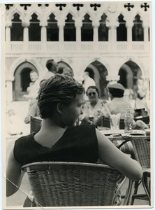 Thumbnail of Pat Spaulding seated at a cafe in Venice