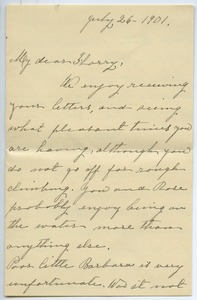 Thumbnail of Letter from Hannah Maria Chapin Moodey to Florence Porter Lyman