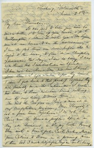 Thumbnail of Letter from Elizabeth Porter Cooper to Florence Porter Lyman