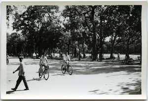 Thumbnail of Cyclists beside Hoan Kiem Lake