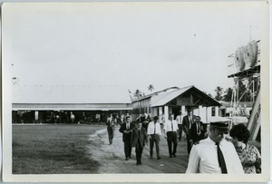 Thumbnail of Passengers at airport, Colombo, Ceylon