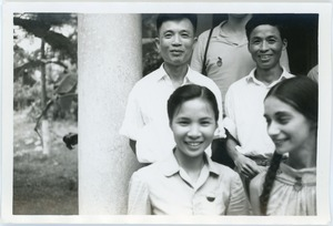 Thumbnail of Naomi Jaffe with guide and drivers, Thái Bình province