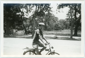 Thumbnail of Cyclist, Hoan Kiem Lake, Hanoi