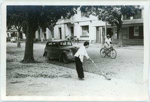 Thumbnail of Street sweeper, French Quarter