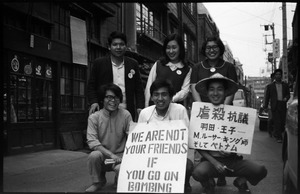 Thumbnail of Youthful antiwar demonstrators with signs