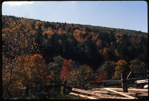 Thumbnail of View of hills in fall color, Montague Farm Commune