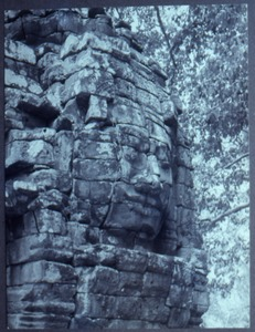 Thumbnail of Carved face in temple wall