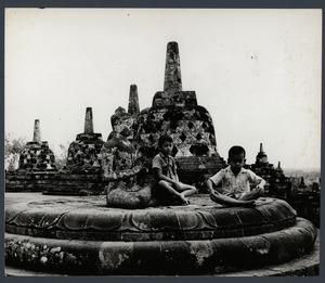 Thumbnail of Indonesian boys at Borobudur Temple