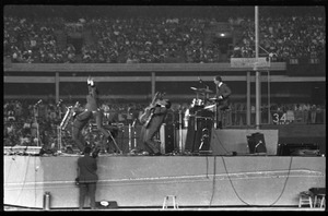 Thumbnail of Beatles concert at Shea Stadium: Sounds Incorporated (opening act) in             performance