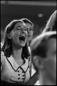 Thumbnail of Beatles concert at Shea Stadium: ecstatic Beatles fan screaming