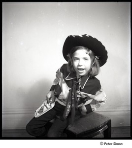 Thumbnail of Carly Simon: full length portrait in cowboy costume