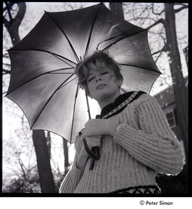 Thumbnail of Joanna Simon with an umbrella
