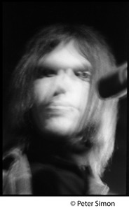 Thumbnail of Neil Young: close-up portrait, blurred out