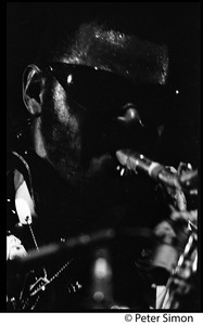 Thumbnail of Rahsaan Roland Kirk in performance on two saxophones, Newport Jazz Festival