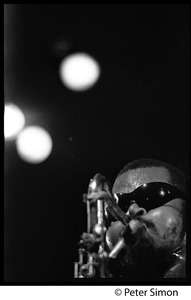 Thumbnail of Rahsaan Roland Kirk in performance (close-up), Newport Jazz Festival