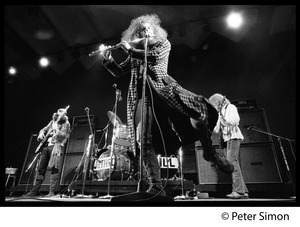Thumbnail of Jethro Tull in concert, Newport Jazz Festival L. to r.: Glenn Cornick (bass), Ian Anderson (flute), Martin Barre (guitar)