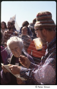 Thumbnail of MUSE concert and rally: Pete Seeger and Maggie Kuhn at the No Nukes rally