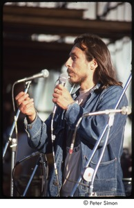 Thumbnail of MUSE concert and rally: John Trudell speaking at the No Nukes rally