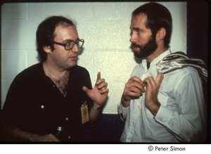Thumbnail of MUSE concert and rally: John Landau (left) and John Hall backstage at the MUSE concert