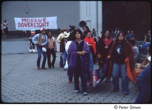 Thumbnail of MUSE concert and rally: Native American demonstrators at Mohawk sovereignty rally