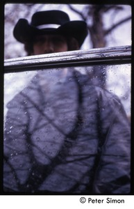Thumbnail of Elliot Blinder: portrait through a car window, Tree Frog Farm commune