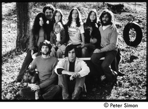 Thumbnail of The  original Tree Frog 'Fambly' Top row (l. to r.): Bonnie Fisher, Harry Saxman, Lacey Mason, Michelle Perkins, Jenny Rose,             Catherine Marriot, Elliot Blinder; bottom row: Peter Simon, Tim Rossner