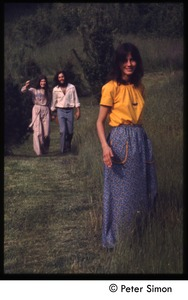 Thumbnail of Catherine Blinder, Elliot Blinder, and Kiki McEntee (l. to r.), Tree Frog Farm commune