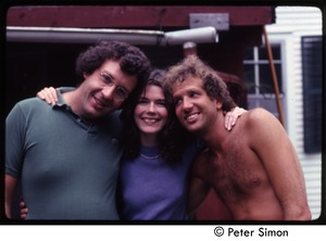 Thumbnail of Peter Simon, Catherine Blinder, and Harry Saxman (r. to l.), Tree Frog Farm Commune