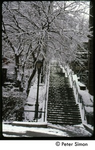 Thumbnail of Flight of steps in heavy snow, Riverdale, N.Y.