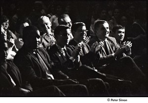 Thumbnail of Martin Luther King Jr. rally at the Fieldston School: audience clapping