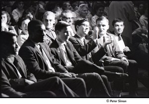 Thumbnail of Martin Luther King Jr. rally at the Fieldston School: audience listening