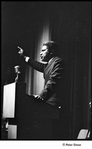 Thumbnail of Martin Luther King Jr. rally at the Fieldston School: Ossie Davis speaking