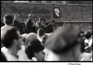 Thumbnail of Robert Kennedy and Kenneth Keating campaigning in Riverdale: Robert Kennedy among speakers