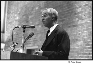 Thumbnail of Roy Wilkins speaking at Boston University