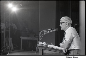 Thumbnail of National Student Association Congress: Sidney Cohen during debate with Timothy Leary on 'social philosophy'