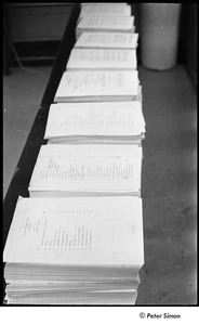 Thumbnail of National Student Association Congress: stacks of documents in a row