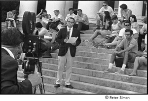 Thumbnail of National Student Association Congress: David Brinkley reporting from the steps of the Reckord Armory