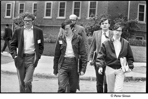 Thumbnail of United States Student Press Association Congress: (l-r) Alex Jack, Raymond Mungo, Joe Pilati, and Ed Siegel walking outside