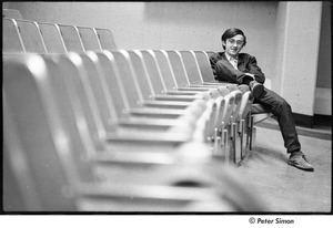 Thumbnail of United States Student Press Association Congress: Raymond Mungo in an empty auditorium