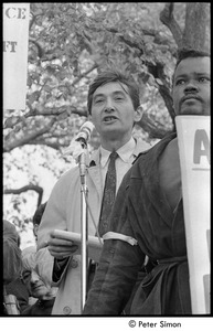 Thumbnail of Resistance rally: Howard Zinn speaking at rally on Boston Common