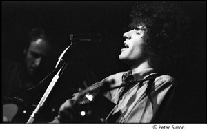 Thumbnail of Tim Buckley at the Catacombs: Buckley performing, Lee Underwood to his left