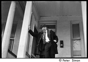 Thumbnail of Peter Simon walking down the steps of a house