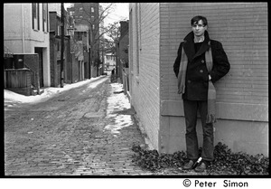 Thumbnail of Stephen Davis (BU News) standing by an alley