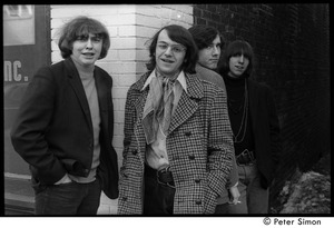 Thumbnail of The  Orphans (Boston rock group): posed in an alleyway