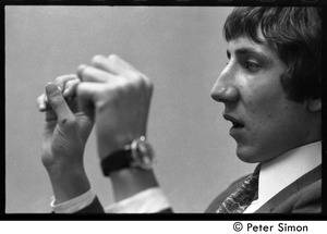 Thumbnail of Pete Townshend: close-up, gesturing with his hands