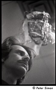 Thumbnail of John Kreidl: close-up portrait, three-quarter profile from below